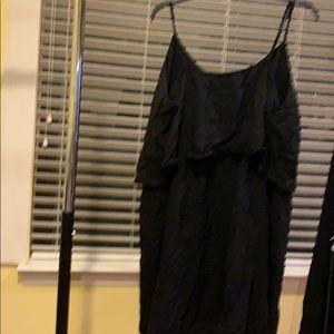 Old Navy spaghetti wrap mini black dress-XXL